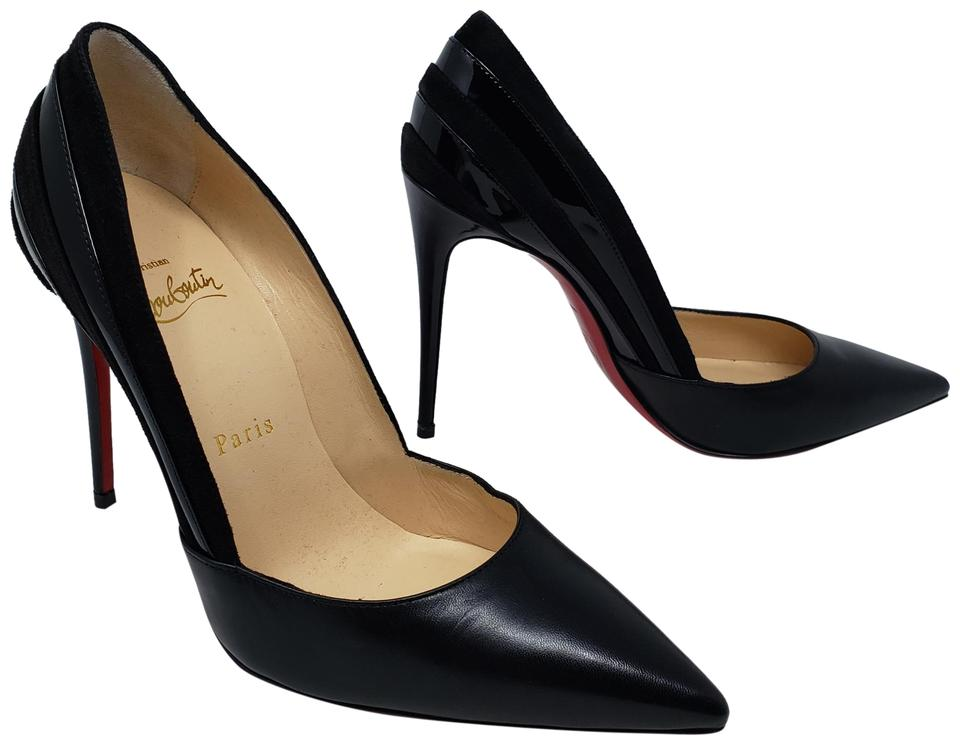 bc4429cdd1ce Christian Louboutin Black Leather Super 100 Pointed-toe Pumps Size ...