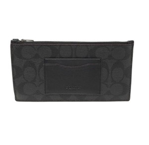Coach Coach Men's Zip Phone Wallet In Signature Canvas Black/Oxblood