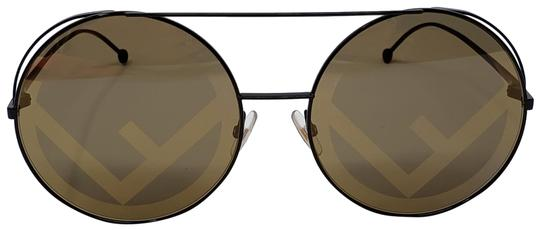 Preload https://img-static.tradesy.com/item/24499202/fendi-gold-olive-brown-black-metallic-f-logo-round-sunglasses-0-2-540-540.jpg
