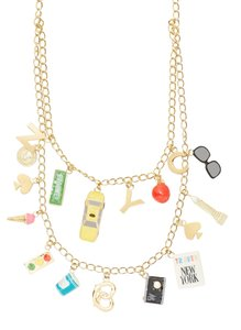 Kate Spade Kate Spade New York City Charm Necklace NWT
