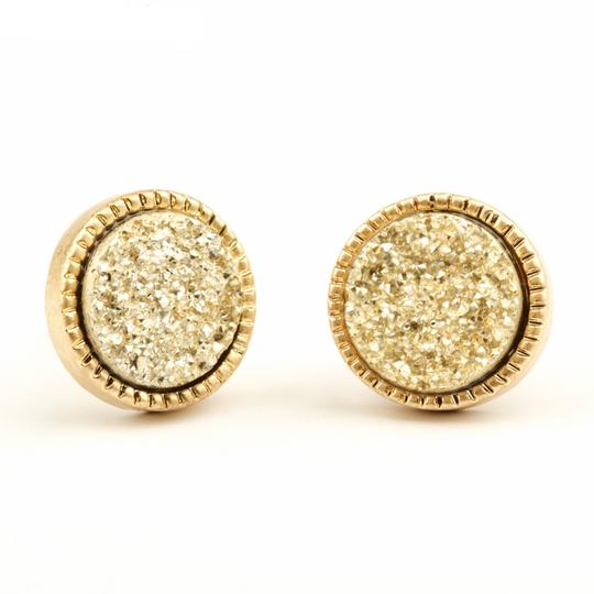 Private Collection Royal Round Druzy Stud Earrings