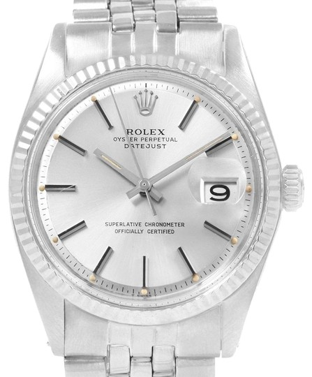 Preload https://img-static.tradesy.com/item/24499336/rolex-silver-datejust-steel-white-gold-fluted-bezel-vintage-mens-1601-watch-0-1-540-540.jpg