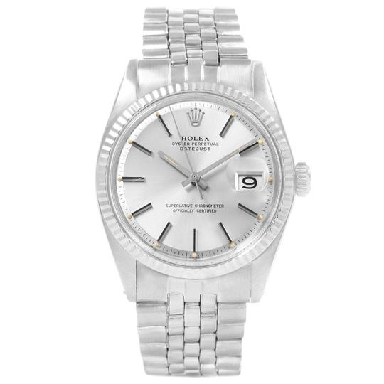 Rolex Rolex Datejust Steel White Gold Fluted Bezel Vintage Mens Watch 1601