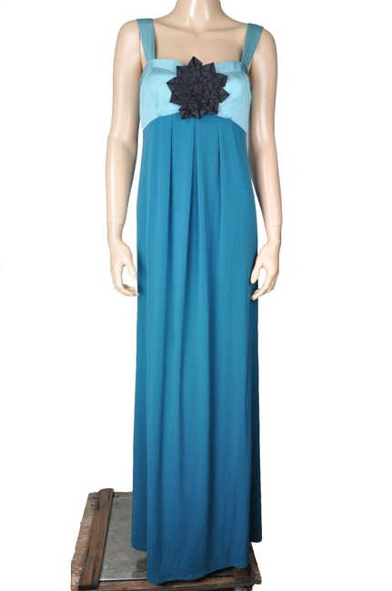 Blue Maxi Dress by Max and Cleo Floral Pleated Bustier Padded