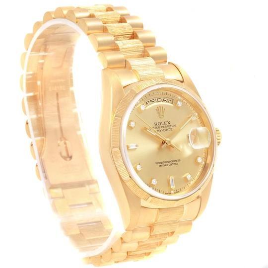 Rolex Rolex President Day-Date Yellow Gold Bark Diamond Dial Mens 18248