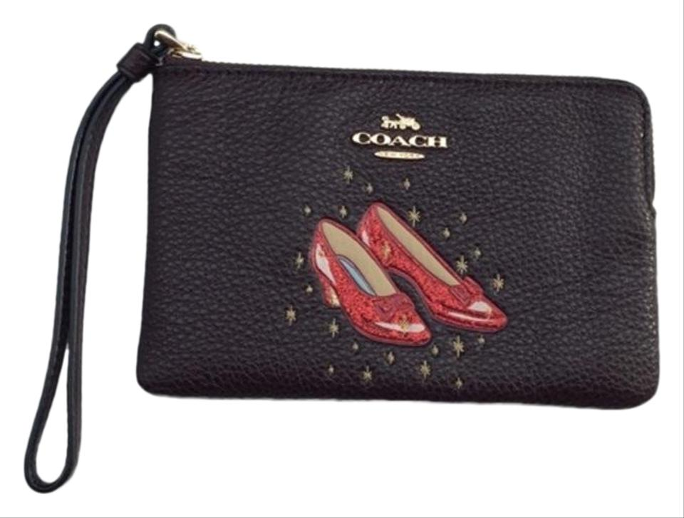 6f2c362827cf Coach Ruby Wizard Of Oz Red Slippers Oxblood Leather Wristlet - Tradesy