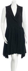 Band of Outsiders Wool Sleeveless Pleated Vest Androgynous Dress