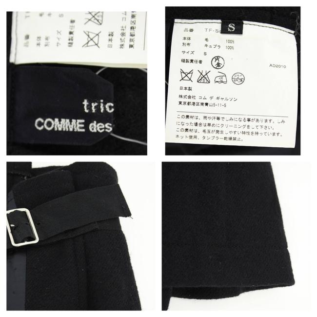 Tricot Comme des Garons Wool Pleated Buckle Skirt Black