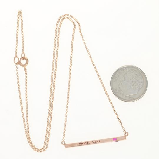 Other NEW Synthetic Ruby Modern Pendant Necklace - 10k Rose Gold MQ4508