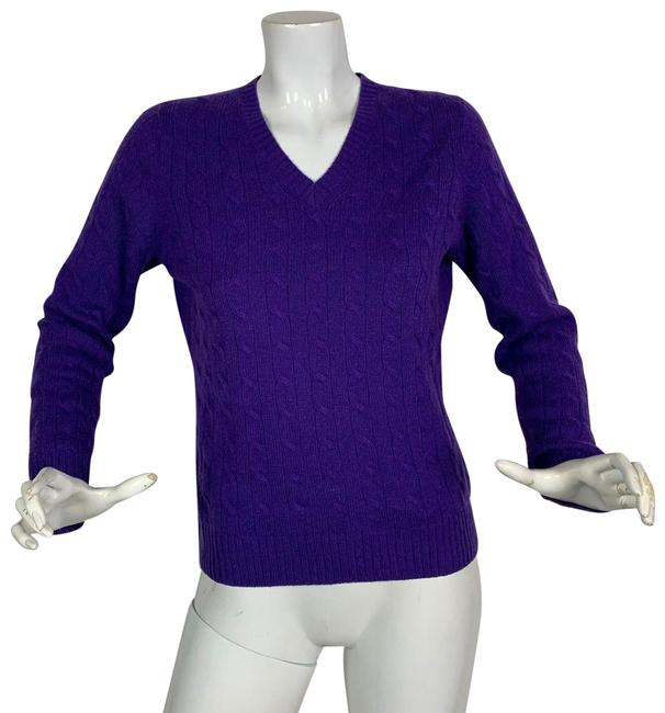 Preload https://img-static.tradesy.com/item/24499577/brooks-brothers-cashmere-purple-sweater-0-1-650-650.jpg