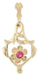 Other Vintage Flower Pendant - 10k Yellow, Rose, & Green Gold N3163