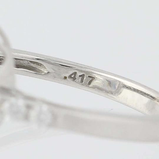 Other NEW Cubic Zirconia Halo Ring - 10k White Gold Engagement Women's N8054
