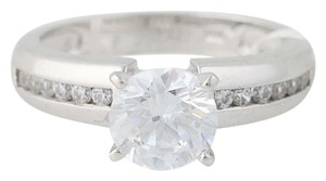 Other NEW Cubic Zirconia Engagement Ring - 10k White Gold Solitaire N8056