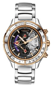 Versace New Versace DV One Skeleton VK802 0013 Limited Ceramic Chronograph 44M