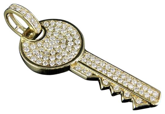 Preload https://img-static.tradesy.com/item/24499678/jewelry-unlimited-yellow-gold-mens-ladies-14k-genuine-diamond-iced-key-pendant-170-ct-19-charm-0-1-540-540.jpg