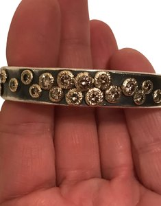 Custom Diamond, Sterling Silver, 14K Gold Cuff Bracelet