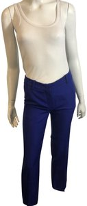 Emilio Pucci Corduroy Patterned Straightcut Straight Pants BLUE