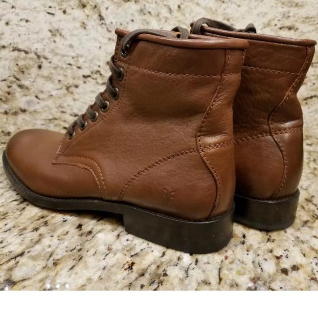 Frye Cognac New Tyler Lace Up Leather Boots/Booties Size US 7 Regular (M, B) Frye Cognac New Tyler Lace Up Leather Boots/Booties Size US 7 Regular (M, B) Image 5