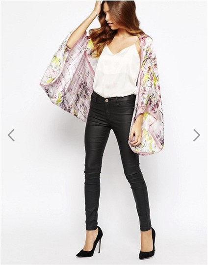 Ted Baker 100% Pure Silk Window Blossom Cape Scarf