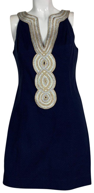 Preload https://img-static.tradesy.com/item/24499804/lilly-pulitzer-navy-blue-embroidered-sparks-short-cocktail-dress-size-8-m-0-1-650-650.jpg