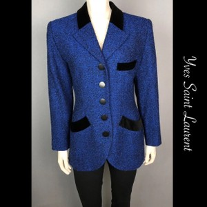 Saint Laurent blue & black Blazer