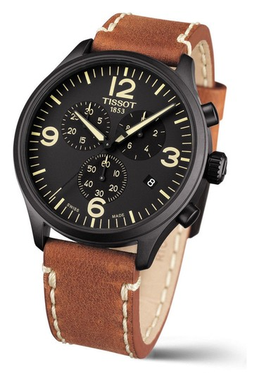 Preload https://img-static.tradesy.com/item/24499819/tissot-black-brown-t-sport-chronograph-xl-men-s-leather-watch-0-0-540-540.jpg