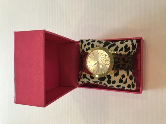 Betsey Johnson Betsey Johnson Leopard Print Watch