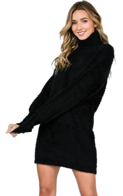 Preload https://img-static.tradesy.com/item/24499860/black-oh-so-soft-brushed-sweater-in-l-short-casual-dress-size-12-l-0-1-650-650.jpg