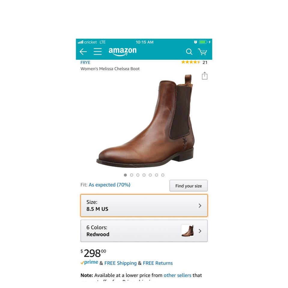 6619bed75dd Frye Redwood Brown New Melissa Chelsea Casual Elasticated Ankle Women's  Leather Boots/Booties Size US 7 Regular (M, B) 65% off retail