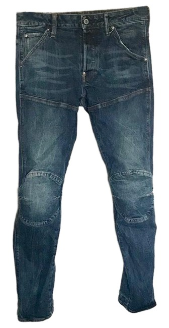 Preload https://img-static.tradesy.com/item/24499866/g-star-raw-blue-distressed-mens-demin-3d-slim-28-skinny-jeans-size-6-s-28-0-2-650-650.jpg