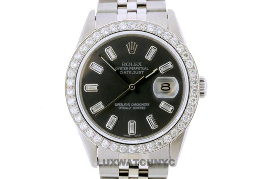 Rolex 2.50ct 36mm Datejust S/S Pre-owned Watch