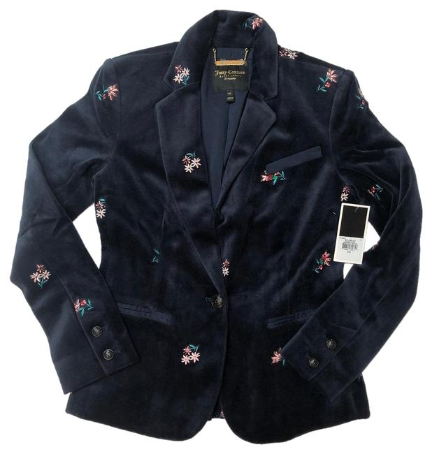 Preload https://img-static.tradesy.com/item/24499910/juicy-couture-dark-blue-regal-floral-women-s-embroidered-velour-blazer-size-0-xs-0-1-650-650.jpg
