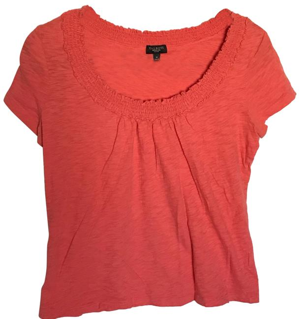 Preload https://img-static.tradesy.com/item/24499923/talbots-orange-womens-short-sleeve-gathered-scoop-line-stretch-ps-blouse-size-petite-6-s-0-2-650-650.jpg