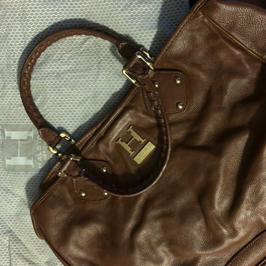 Halston Tote in brown