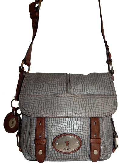 Preload https://img-static.tradesy.com/item/24499956/fossil-long-live-vintage-brown-snake-gray-leather-cross-body-bag-0-2-540-540.jpg