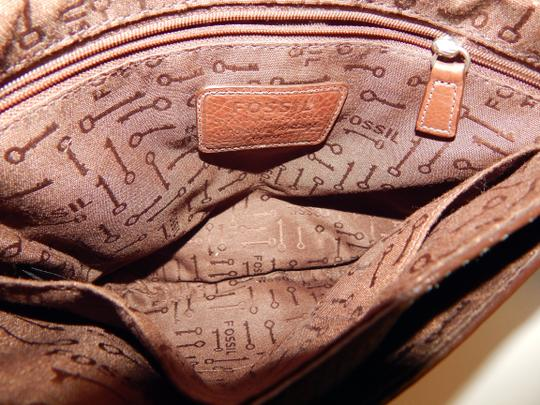 Fossil Vintage Leather Croc Cross Body Bag