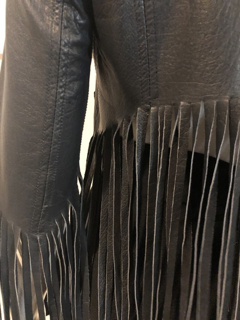 Topshop Leather Kate Moss Military Jacket