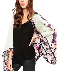 Ted Baker Pure Silk Zebra Tribal Cape