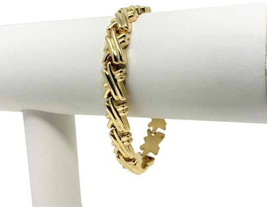 Preload https://img-static.tradesy.com/item/24500063/14k-yellow-gold-hollow-x-cross-fancy-link-italy-7-inches-bracelet-0-1-540-540.jpg