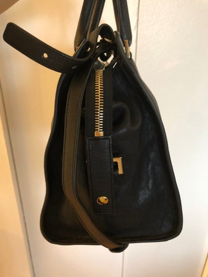 Saint Laurent Ysl Satchel in Black