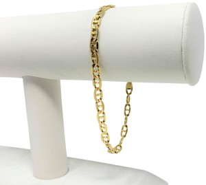 Other 14k Yellow Gold Anchor Mariner Gucci Link Bracelet Italy 8 Inches
