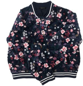 Juicy Couture Stretchy Regal Bomber Black Floral Jacket