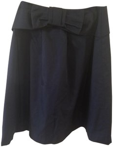 Paniz Designer Mid-calf Bow Skirt Blue