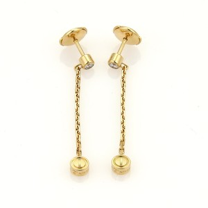 Cartier Love Diamond 18k Gold Drop Earrings w/Paper
