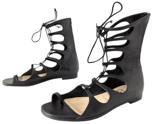 35334fb0b20a Christian Louboutin Sparty Gladiator Lace Up Napa Black Sandals