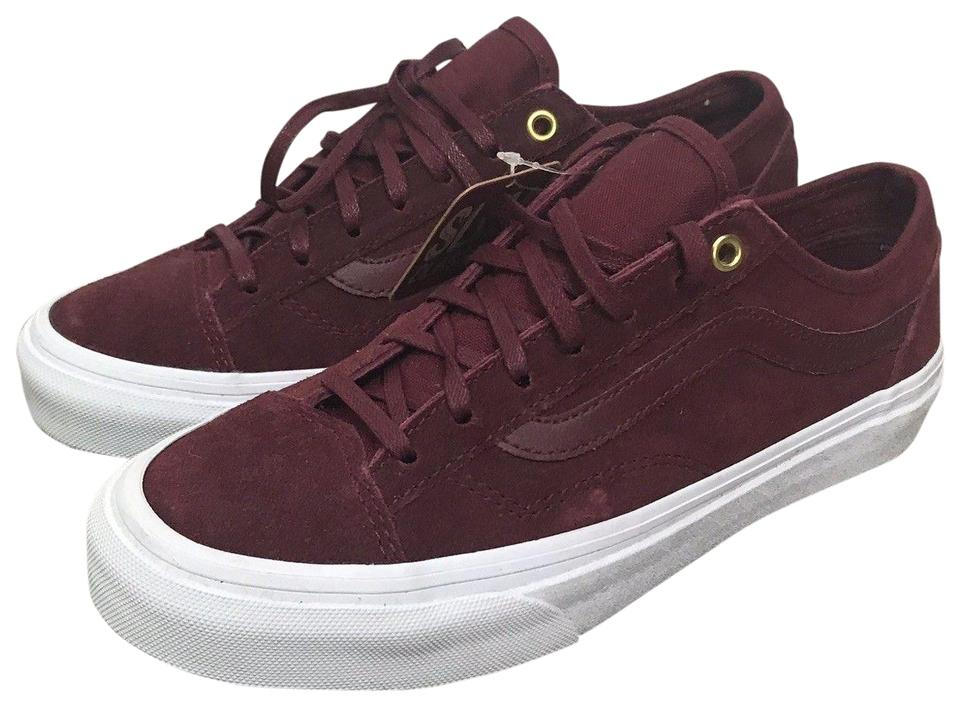 25310df0d4 Vans Burgundy Unisex Sneakers Mens 5 Womens Solid Maroon Sneakers ...