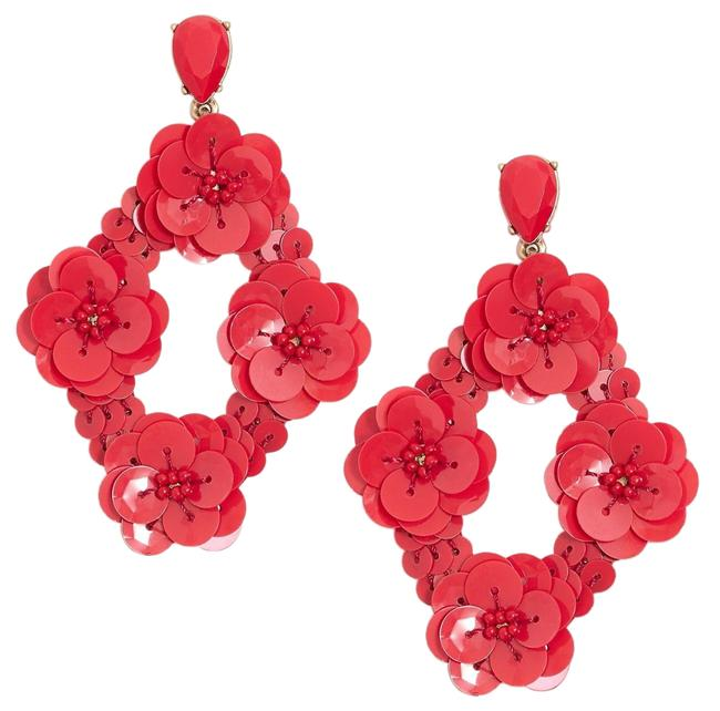 Item - Red Pedal Sequin Earrings