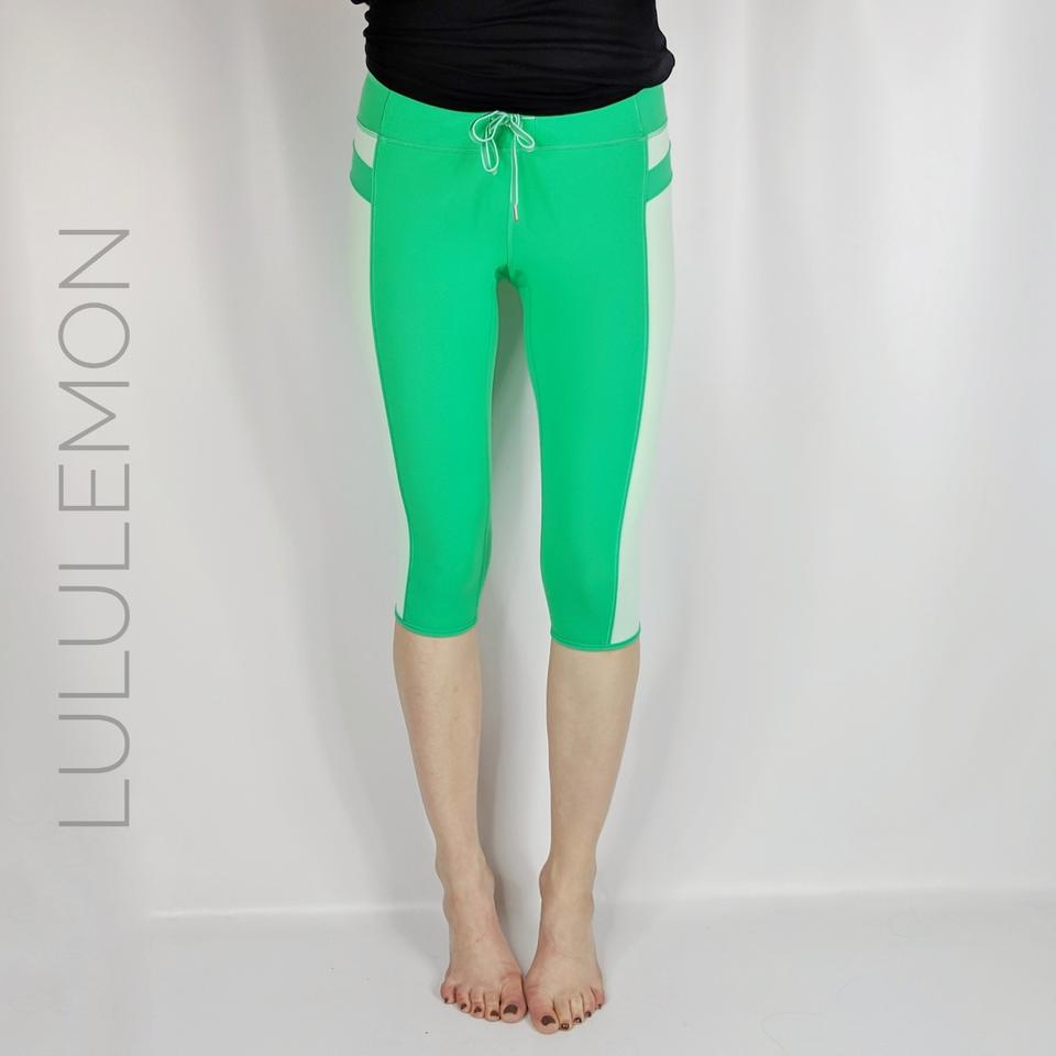 127861134d Lululemon Green Heat It Up Crop Yoga Leggings Size 4 (S, 27) - Tradesy