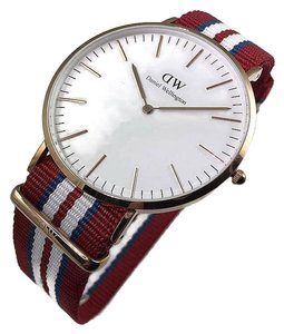 Daniel Wellington 0112DW Classic Men's Multi color Band Analog Watch with White Dial NWT
