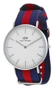 34bc455d6d59 Daniel Wellington 0201DW Men s Multicolor Band with White Dial Analog Watch  NWT